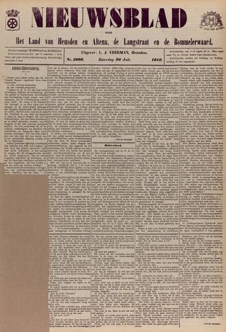 Nieuwsblad het land van Heusden en Altena de Langstraat en de Bommelerwaard 1910-07-30
