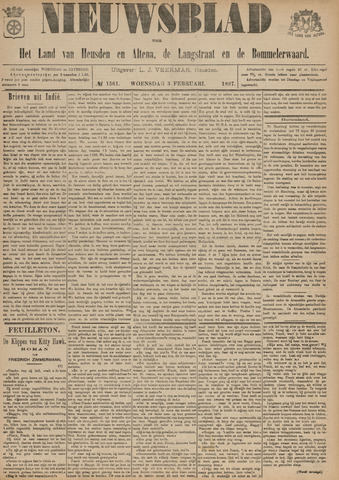 Nieuwsblad het land van Heusden en Altena de Langstraat en de Bommelerwaard 1897-02-03