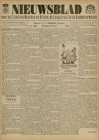 Nieuwsblad het land van Heusden en Altena de Langstraat en de Bommelerwaard 1922-06-28