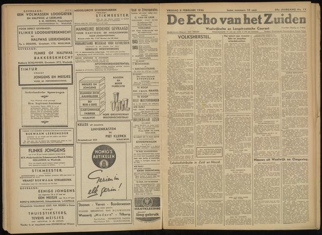 Echo van het Zuiden 1946-02-08