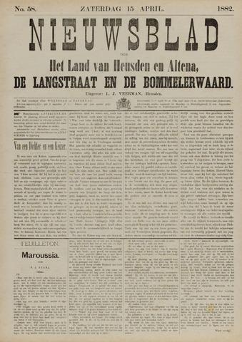 Nieuwsblad het land van Heusden en Altena de Langstraat en de Bommelerwaard 1882-04-15