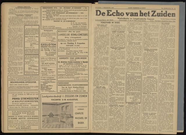Echo van het Zuiden 1947-08-05