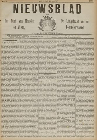 Nieuwsblad het land van Heusden en Altena de Langstraat en de Bommelerwaard 1891-03-18