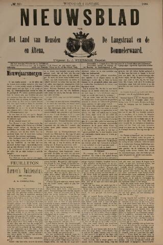 Nieuwsblad het land van Heusden en Altena de Langstraat en de Bommelerwaard 1888-01-04