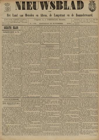 Nieuwsblad het land van Heusden en Altena de Langstraat en de Bommelerwaard 1892-11-26