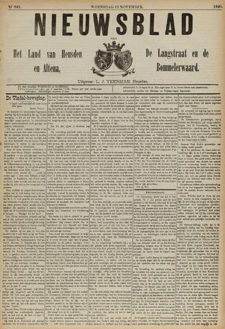 Nieuwsblad het land van Heusden en Altena de Langstraat en de Bommelerwaard 1890-11-12