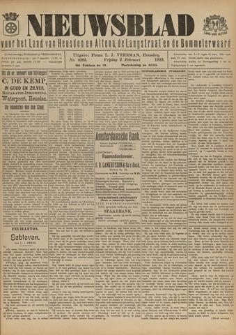 Nieuwsblad het land van Heusden en Altena de Langstraat en de Bommelerwaard 1923-02-02