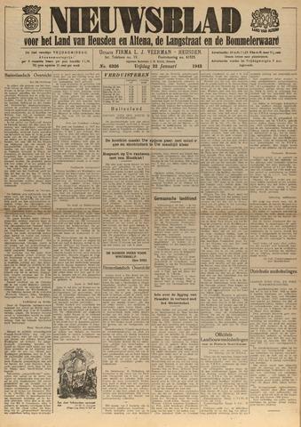 Nieuwsblad het land van Heusden en Altena de Langstraat en de Bommelerwaard 1943-01-22