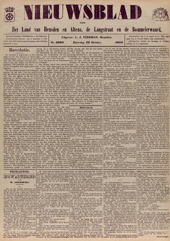 Nieuwsblad het land van Heusden en Altena de Langstraat en de Bommelerwaard 1910-10-22