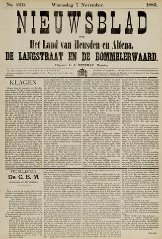 Nieuwsblad het land van Heusden en Altena de Langstraat en de Bommelerwaard 1883-11-07