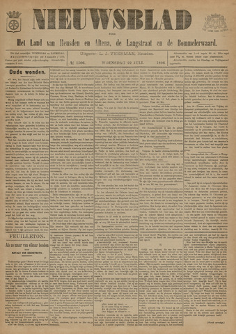 Nieuwsblad het land van Heusden en Altena de Langstraat en de Bommelerwaard 1896-07-22