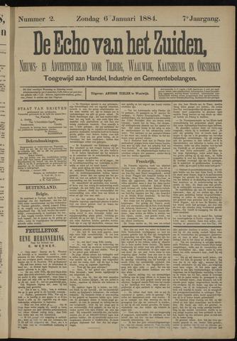 Echo van het Zuiden 1884-01-06
