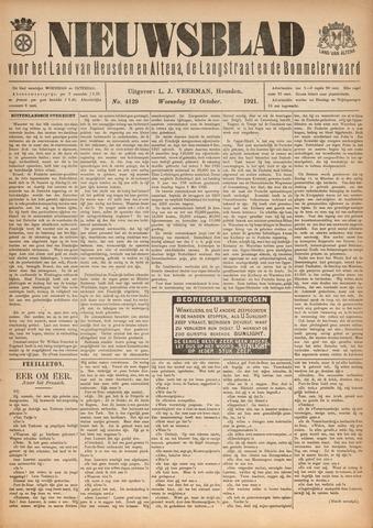 Nieuwsblad het land van Heusden en Altena de Langstraat en de Bommelerwaard 1921-10-12