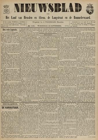 Nieuwsblad het land van Heusden en Altena de Langstraat en de Bommelerwaard 1892-09-28
