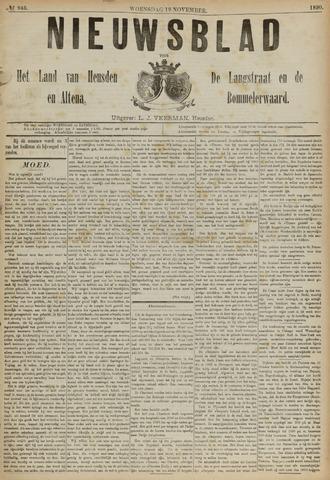 Nieuwsblad het land van Heusden en Altena de Langstraat en de Bommelerwaard 1890-11-19