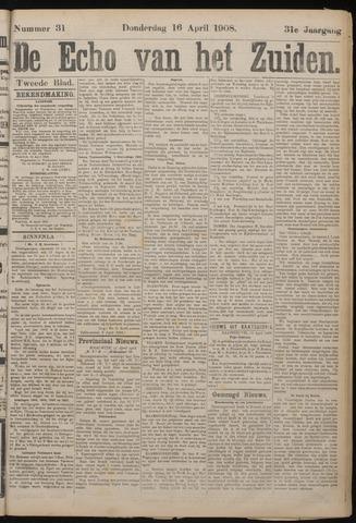 Echo van het Zuiden 1908-04-16