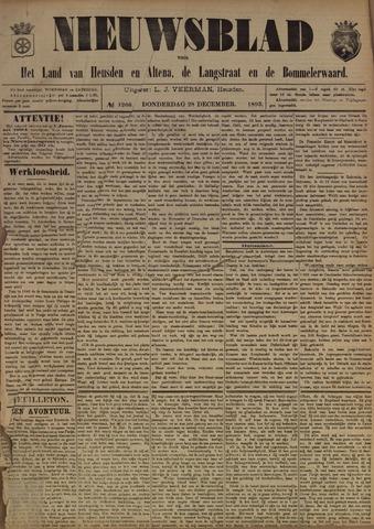 Nieuwsblad het land van Heusden en Altena de Langstraat en de Bommelerwaard 1893-12-28
