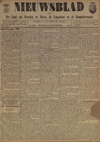Nieuwsblad het land van Heusden en Altena de Langstraat en de Bommelerwaard 1893-11-22