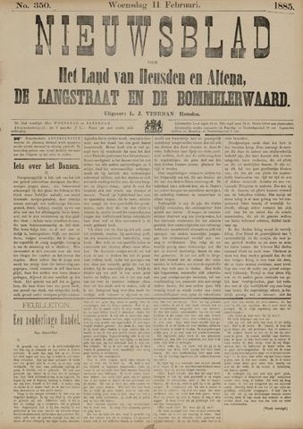 Nieuwsblad het land van Heusden en Altena de Langstraat en de Bommelerwaard 1885-02-11