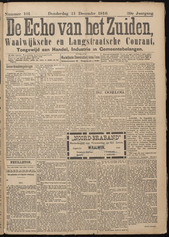 Echo van het Zuiden 1916-12-21