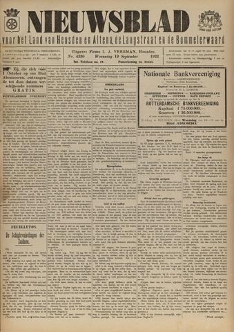 Nieuwsblad het land van Heusden en Altena de Langstraat en de Bommelerwaard 1923-09-19