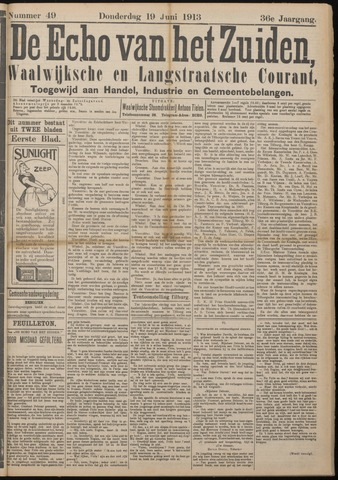 Echo van het Zuiden 1913-06-19