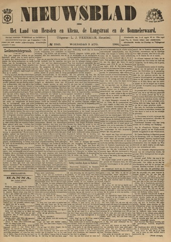 Nieuwsblad het land van Heusden en Altena de Langstraat en de Bommelerwaard 1904-08-03