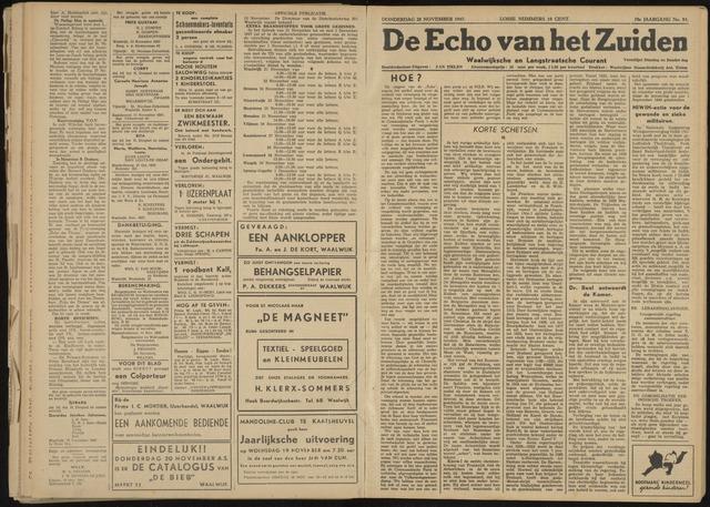 Echo van het Zuiden 1947-11-20