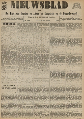 Nieuwsblad het land van Heusden en Altena de Langstraat en de Bommelerwaard 1902-02-08