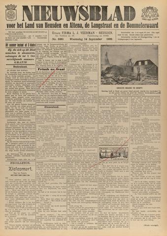 Nieuwsblad het land van Heusden en Altena de Langstraat en de Bommelerwaard 1932-09-14