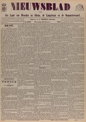 Nieuwsblad het land van Heusden en Altena de Langstraat en de Bommelerwaard 1911-01-25
