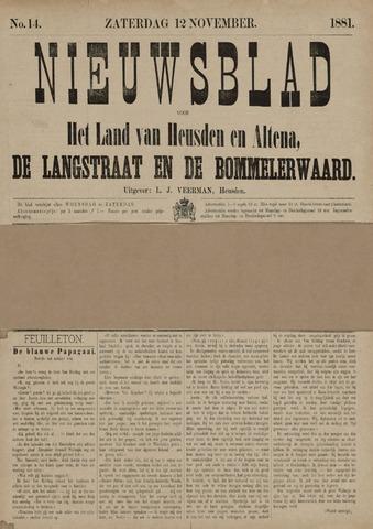 Nieuwsblad het land van Heusden en Altena de Langstraat en de Bommelerwaard 1881-11-12