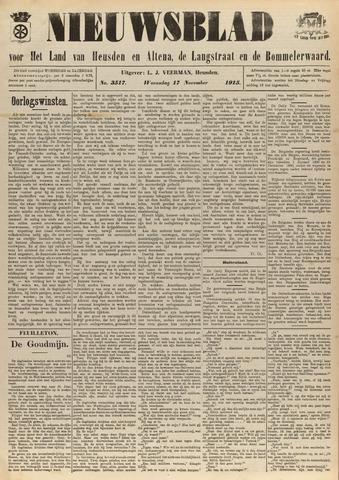 Nieuwsblad het land van Heusden en Altena de Langstraat en de Bommelerwaard 1915-11-17
