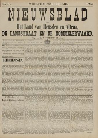 Nieuwsblad het land van Heusden en Altena de Langstraat en de Bommelerwaard 1882-02-22