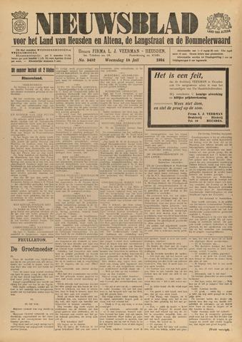 Nieuwsblad het land van Heusden en Altena de Langstraat en de Bommelerwaard 1934-07-18