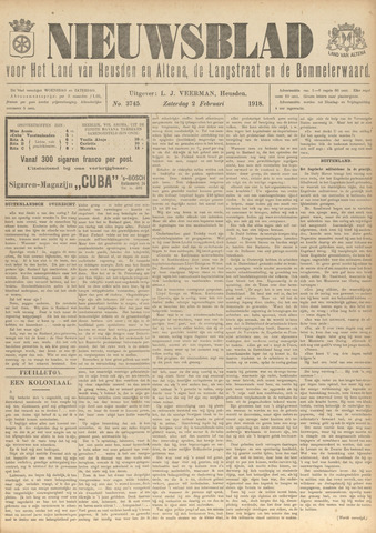 Nieuwsblad het land van Heusden en Altena de Langstraat en de Bommelerwaard 1918-02-02