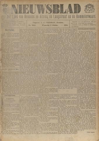 Nieuwsblad het land van Heusden en Altena de Langstraat en de Bommelerwaard 1918-10-02