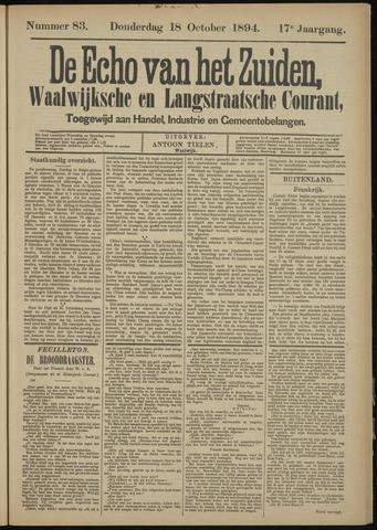 Echo van het Zuiden 1894-10-18