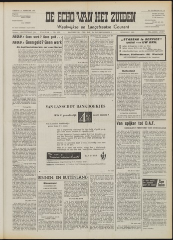 Echo van het Zuiden 1958-02-14
