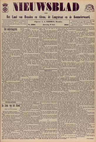 Nieuwsblad het land van Heusden en Altena de Langstraat en de Bommelerwaard 1910-07-09