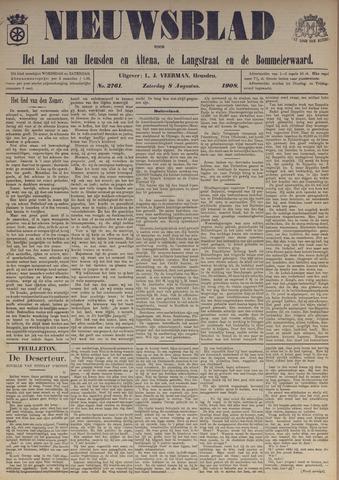 Nieuwsblad het land van Heusden en Altena de Langstraat en de Bommelerwaard 1908-08-08