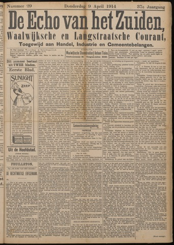 Echo van het Zuiden 1914-04-09