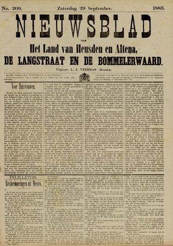 Nieuwsblad het land van Heusden en Altena de Langstraat en de Bommelerwaard 1883-09-29