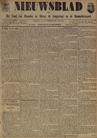 Nieuwsblad het land van Heusden en Altena de Langstraat en de Bommelerwaard 1893-12-20