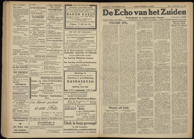 Echo van het Zuiden 1946-11-05