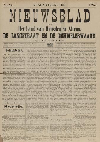 Nieuwsblad het land van Heusden en Altena de Langstraat en de Bommelerwaard 1882-01-01