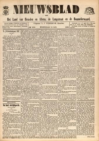 Nieuwsblad het land van Heusden en Altena de Langstraat en de Bommelerwaard 1905-01-18