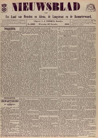Nieuwsblad het land van Heusden en Altena de Langstraat en de Bommelerwaard 1910-11-23
