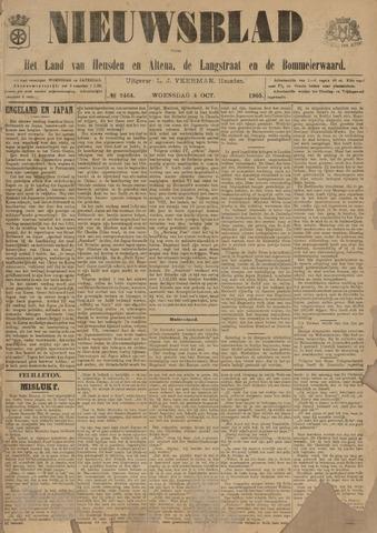 Nieuwsblad het land van Heusden en Altena de Langstraat en de Bommelerwaard 1905-10-04
