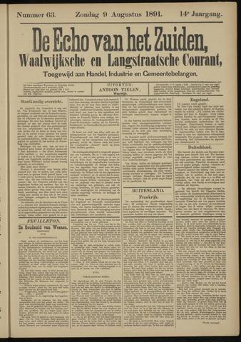 Echo van het Zuiden 1891-08-09